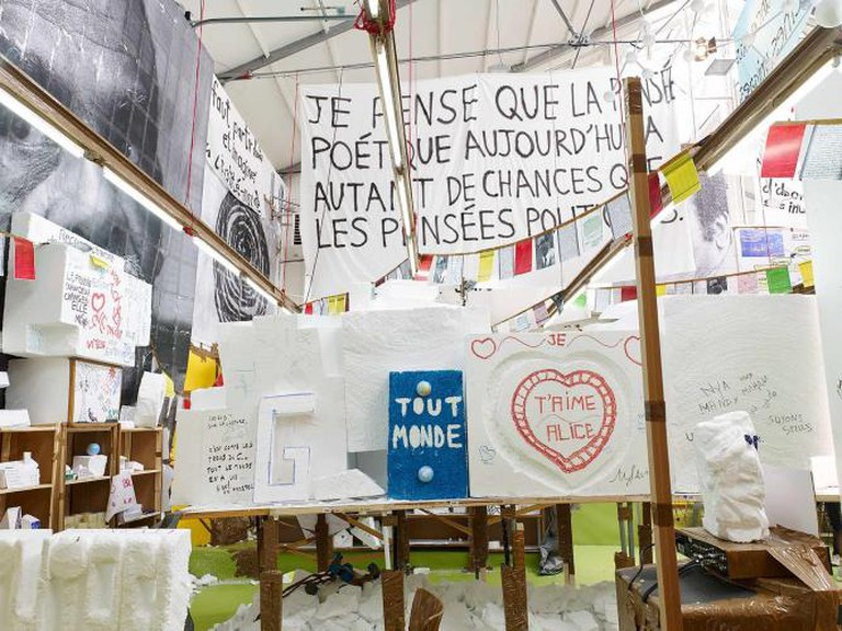 Thomas Hirschhorn | Courtesy of Kristien Daem, Wiels Center for Contemporary Art
