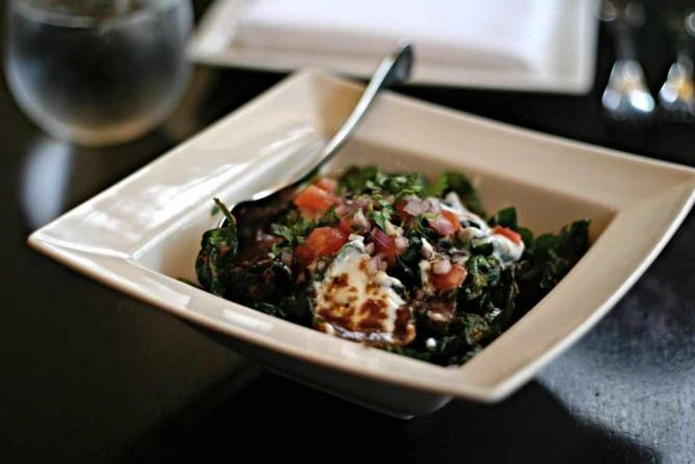 The popular palak chaat dish at Rasika.