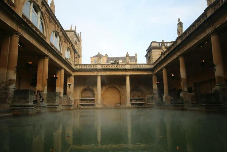 Listen carefully at the Roman Baths, England © Ellie Griffiths