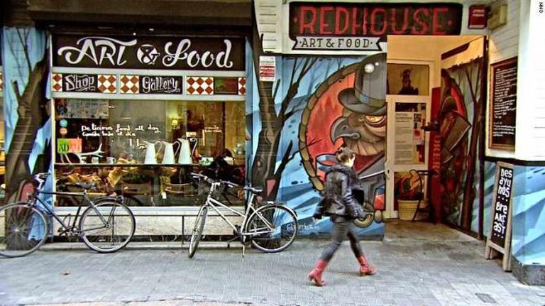 red house art and food