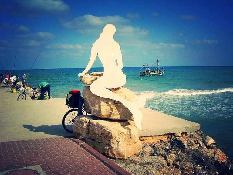 Mermaid statue at the Kiryat Yam Beach