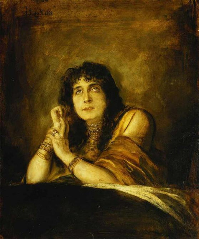 Franz von Lenbach, Sarah Bernhardt as Lady Macbeth, 1892 | WikiCommons