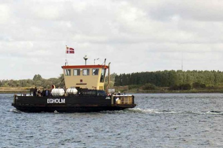 Taking the ferry to Egholm