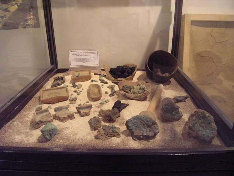 Aqaba Archaeological Museum; metallurgical finds from Tall Hujayrat al-Ghuzlan