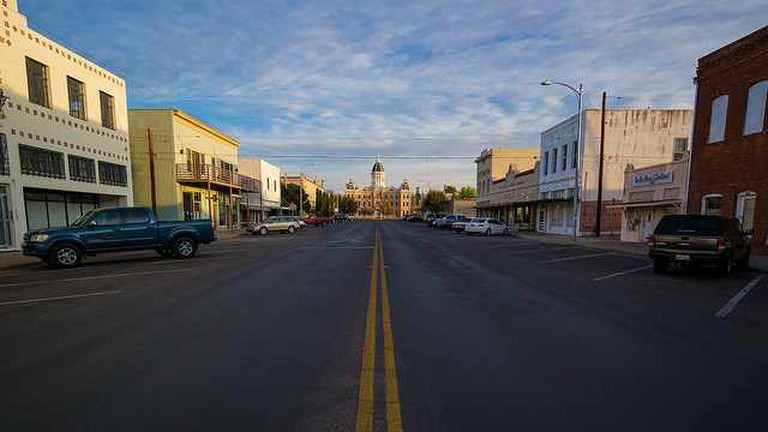 Marfa Street and Courthouse