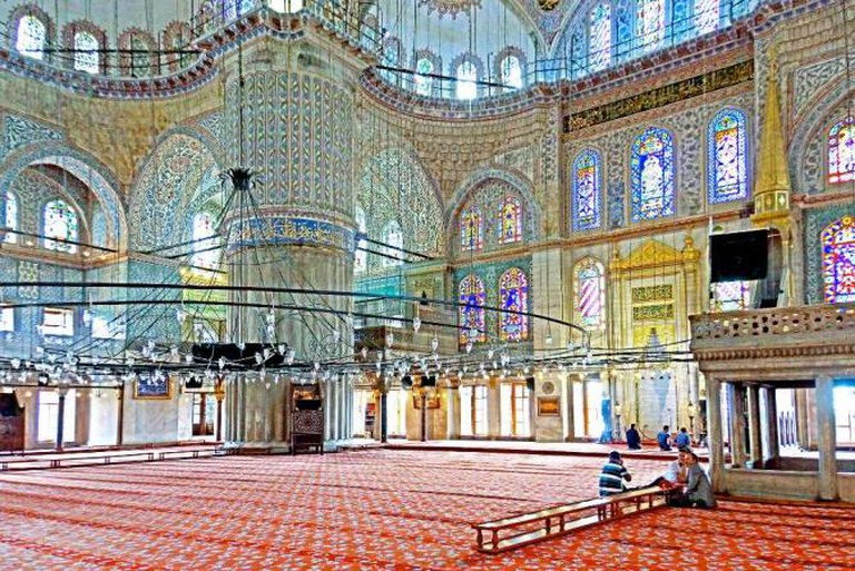 Sultan Ahmet Mosque interior