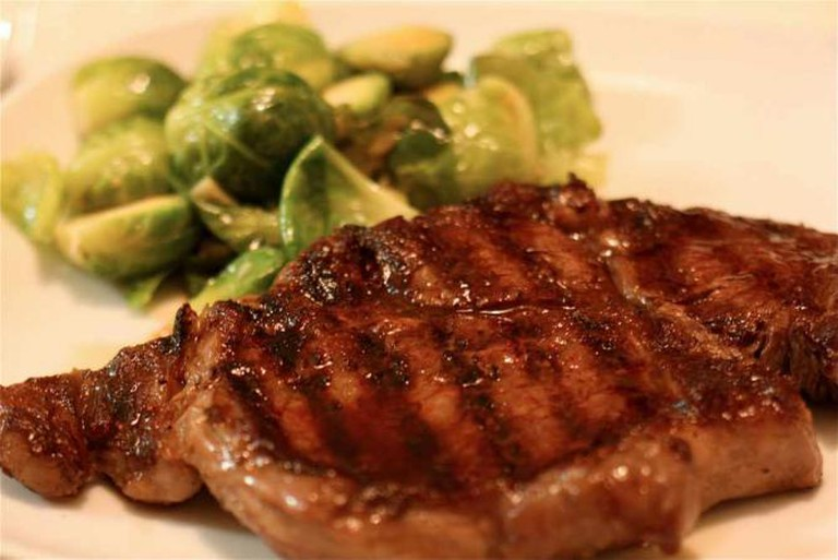 Rib Eye Steak with Brussels Sprouts