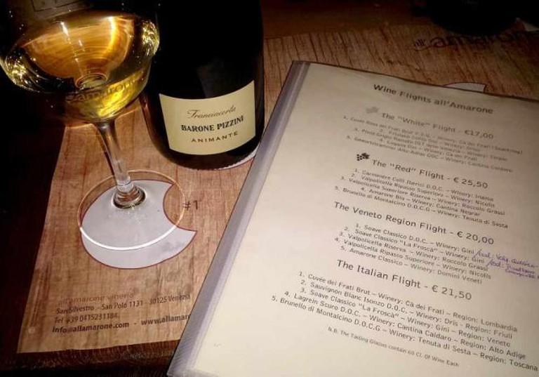Menu | Courtesy of Vinera all'Amarone's
