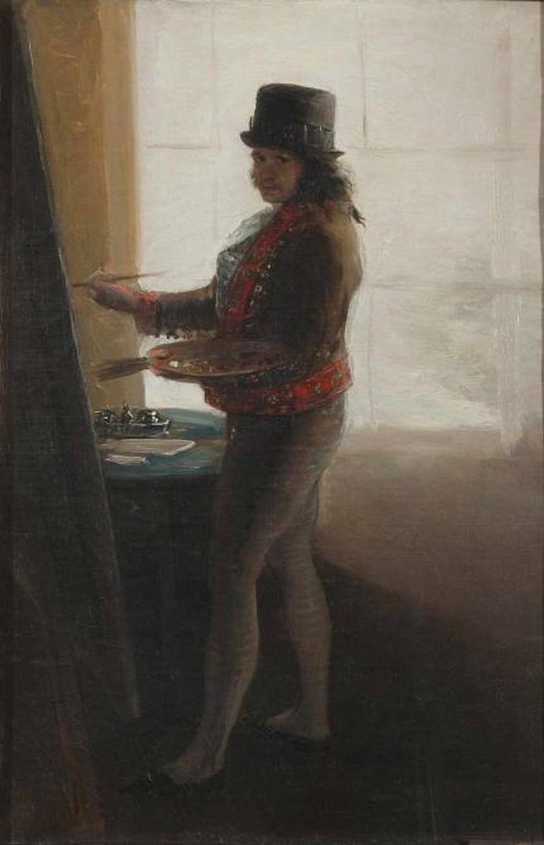 Self Portrait before an Easel, 1792-1795, oil on canvas, 42 x 28 cm, Museo de la Real Academia de Bellas Artes de San Fernando, Madrid © Museo de la Museo de la Real Academia de Bellas Artes de San Fernando, Madrid