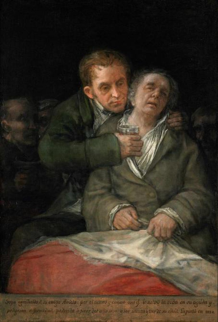 Self Portrait with Doctor Arrieta, 1820, oil on canvas, 114.6 x 76.5 cm, lent by The Minneapolis Institute of Art, the Ethel Morrison Van Derlip fund © Minneapolis Institute of Art