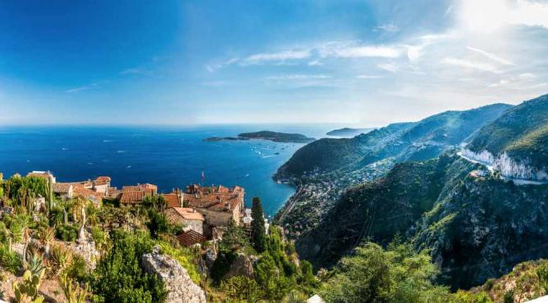 View of Eze and the Three Corniches
