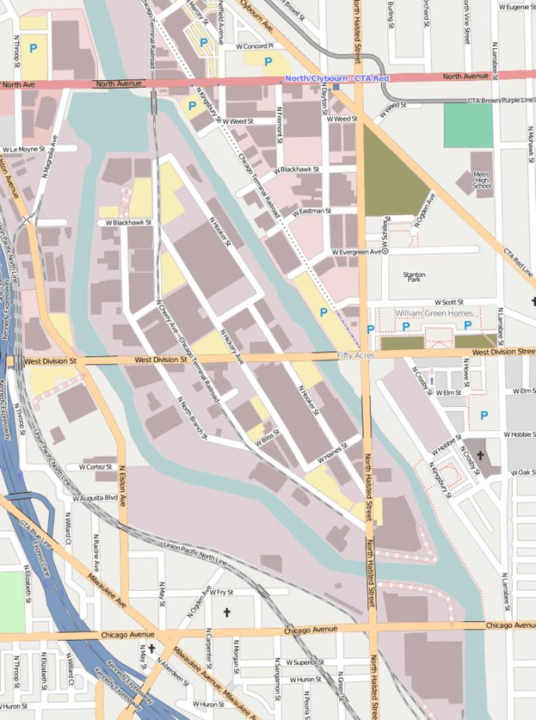 Goose Island © Open Street Map/Wikimedia
