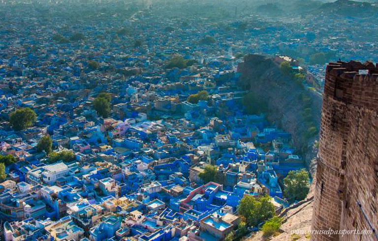 Spellbinding view of the Blue city from Mehrangarh Fort