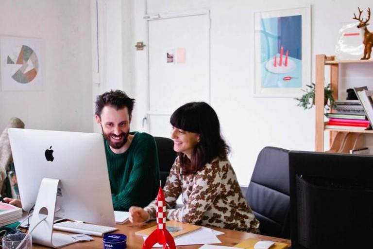 Marta and Marc Sancho, Art Director for PERDIZ (also from Querida Studio) ©Alba García