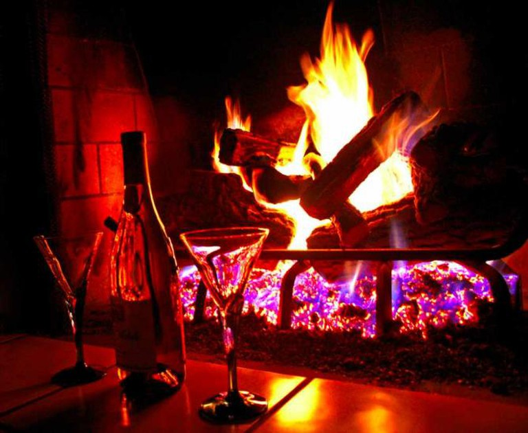 Open Fire and Wine