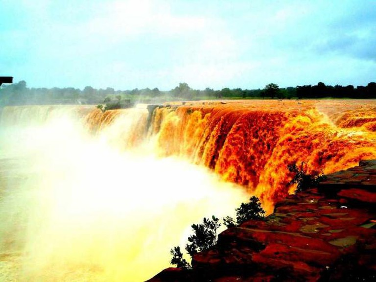 Chitrakote Falls in the month of August. © Samarpita Mukherjee Sharma