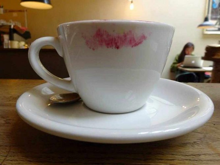 Lipstick Stained Coffee Cup