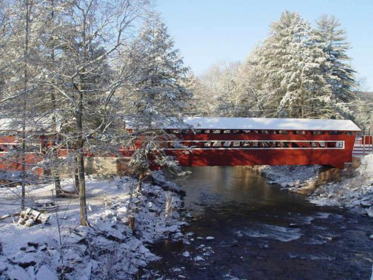 East and West Paden Twin Covered Bridge