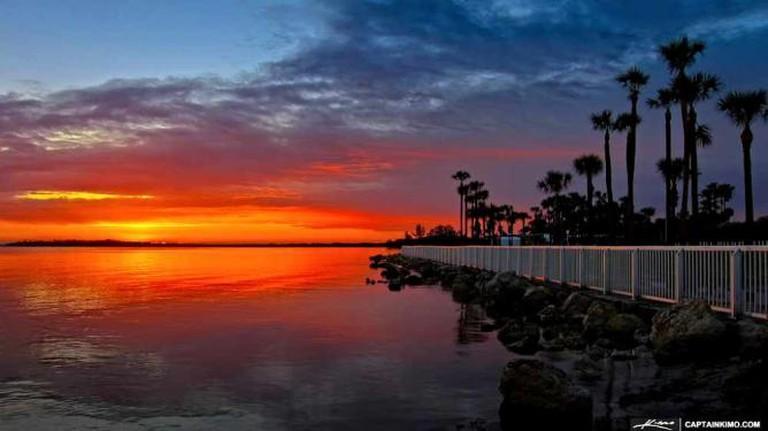 sunrise on water