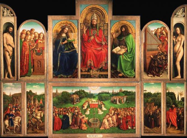 Hubert and Jan van Eyck, Ghent Altarpiece, 1432, Cathedral of Saint Bavo, Ghent, Belgium