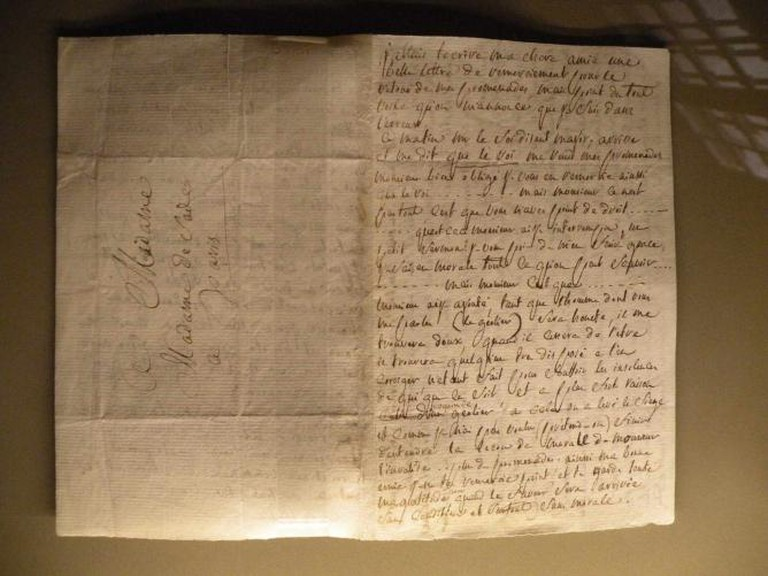 Letter to his wife from Vincennes prison (1780)