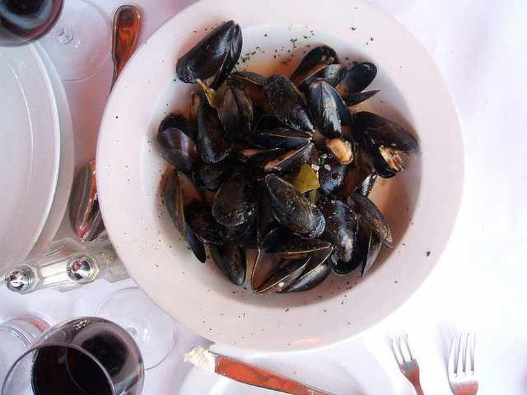 Mussels at Le Fou Frog