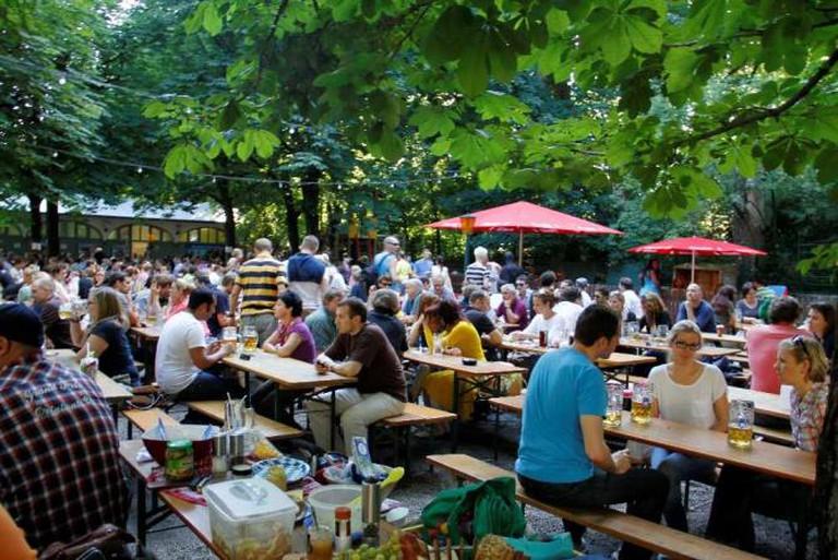 Traditional German Beer Garden