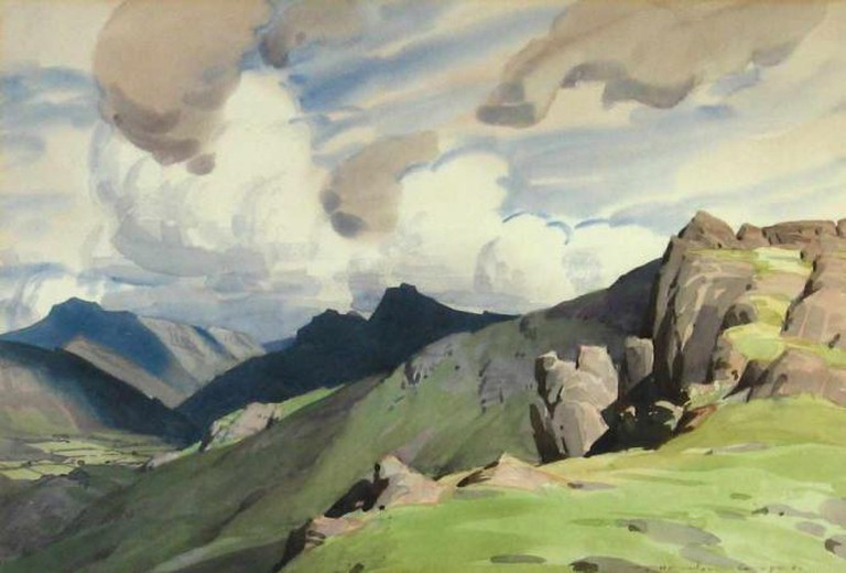 Langdales from High Close William Heaton Cooper