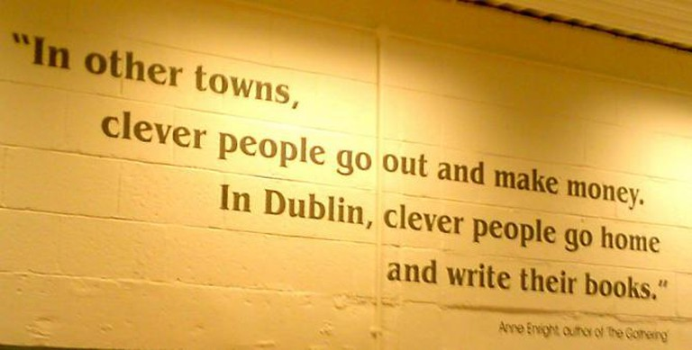 Anne Enright quote on the wall of the Ballyfermot Library