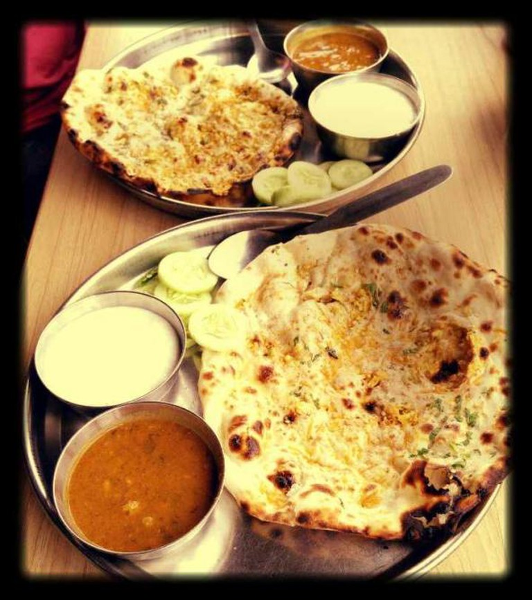 Aloo Paratha with Dahi | Courtesy of Parathe Wali Gali