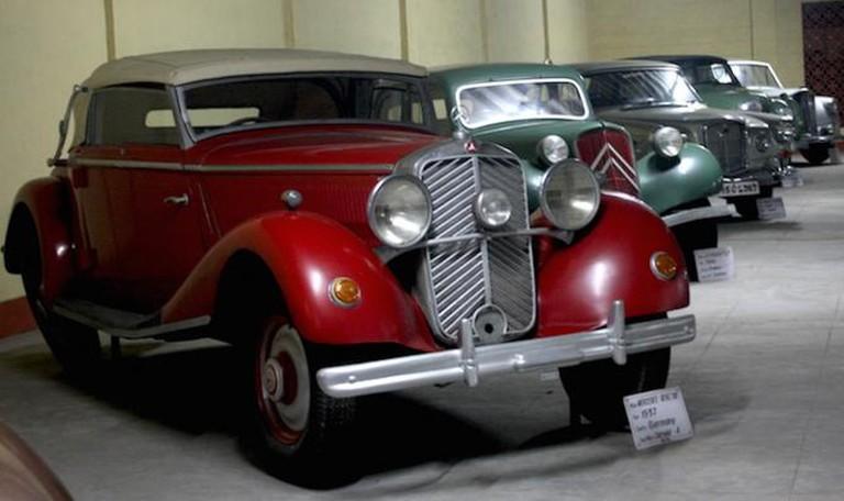 Mercedes Benz, 1937 model on display at Vintage Car Museum, Ahmedabad | © Aditi Gupta