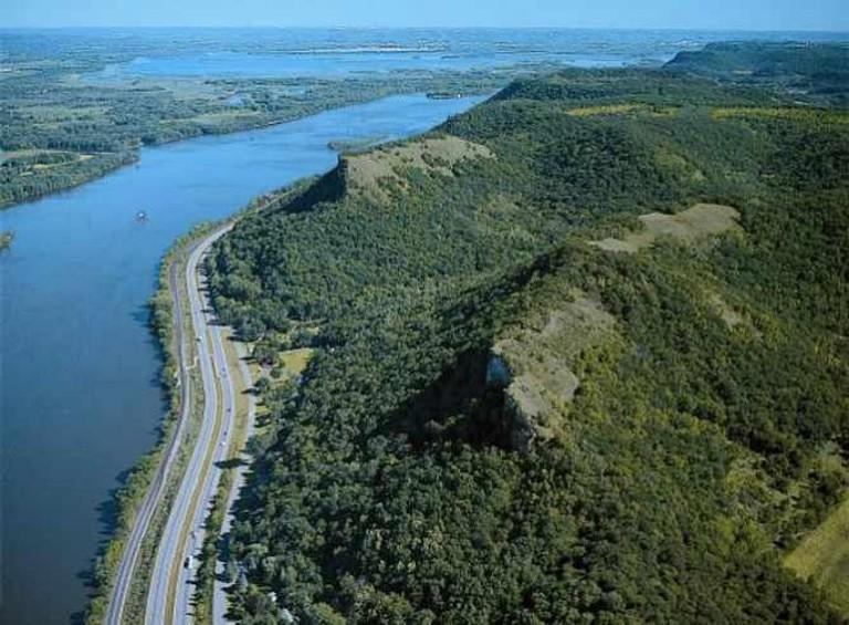 Bluffs in Winona County   Courtesy of Winona County