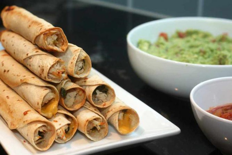 baked chicken and spinach flautas | © kae71463/Flickr