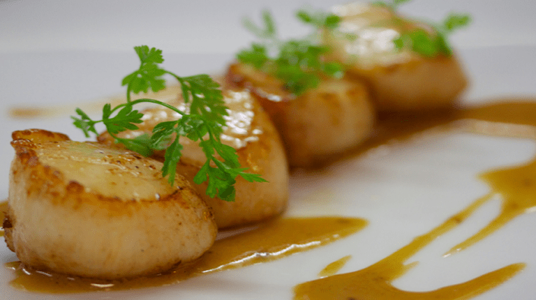 Seared Scallops, Coquilles Saint Jacques | Courtesy of Drouant