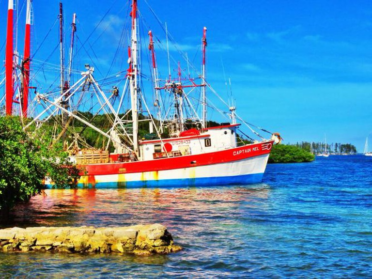 Caribbean shrimping boat I