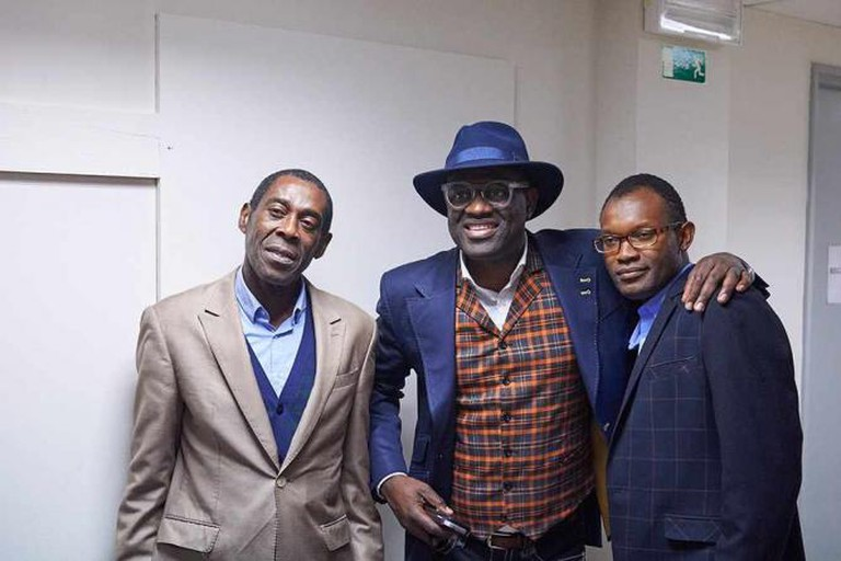 The authors In Koli Jean Bofane, Alain Mabanckou and Fiston Mwanza Mujila | Courtesy of Bozar