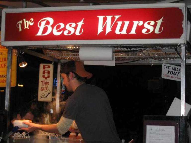 The Best Wurst: A food truck at Draught House