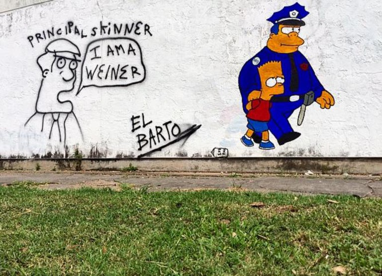 Maybe you've seen this Simpsons mural in EADO.
