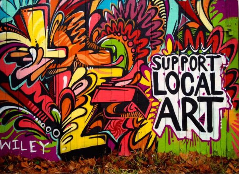 Always support local art.