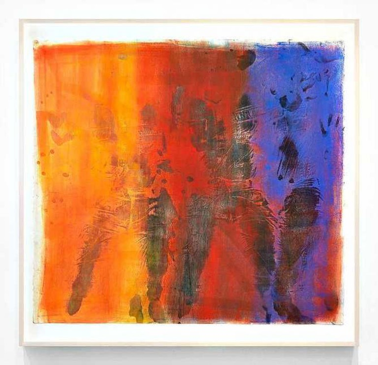 Keltie Ferris, [to be titled], 2015, Oil and powdered pigment on paper, 49 ½ by 52 in. (125.7 by 132.1 cm.)