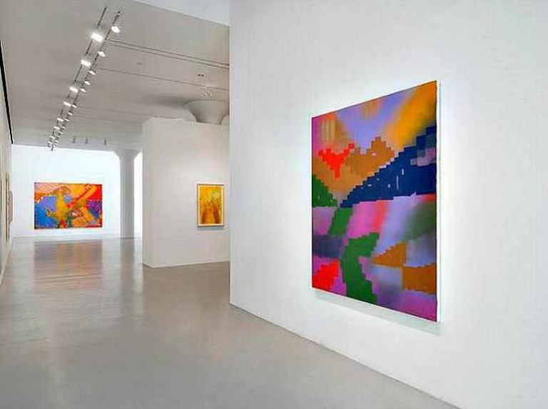 Keltie Ferris, Installation view: Paintings and Body Prints, 2015