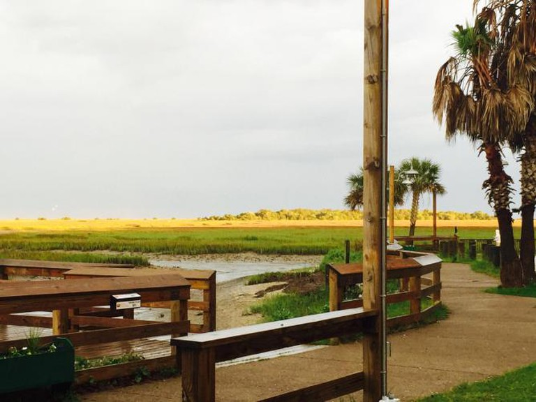 View of Murrells Inlet from Hot Fish Club | Courtesy of Hot Fish Club
