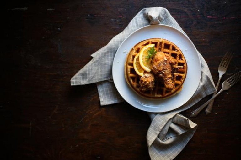 Brooke's Smoked Fried Chicken Waffles | © Brooke Bass