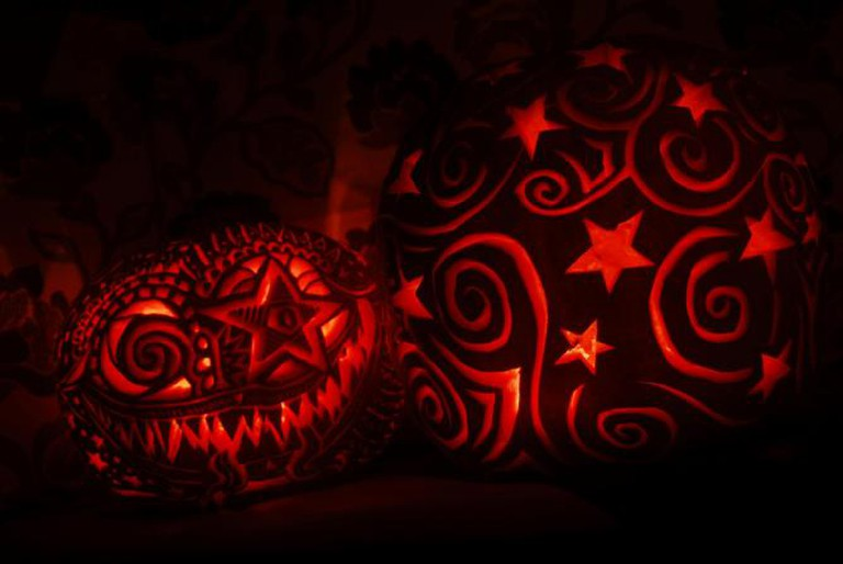 Stars and spirals pumpkin