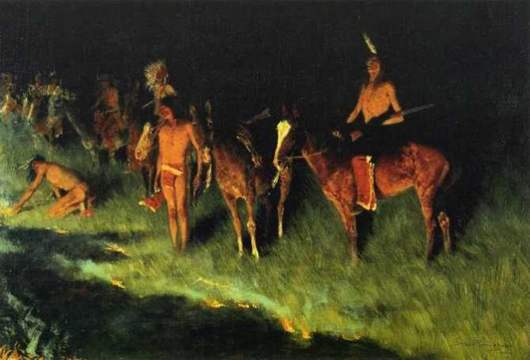 The Grass Fire | © Frederic Remington/Wikicommons