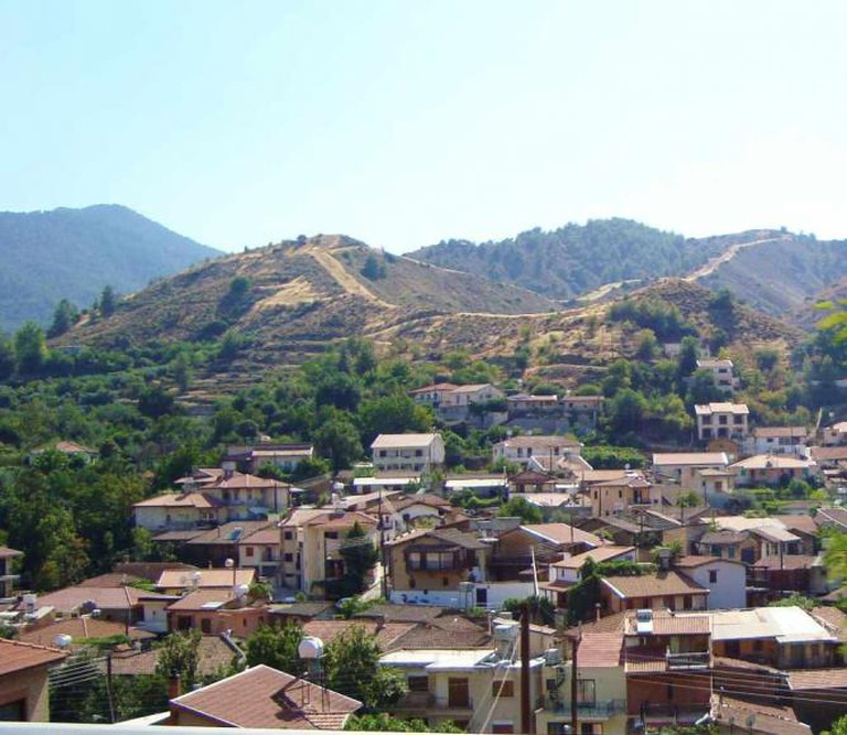 A Creative Commons Image: Kakopetria village and Troodos Mountains in the background Republic of Cyprus | Author: Petros3