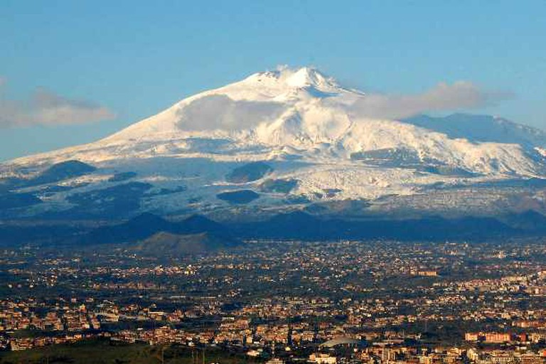 Arial photo of Mt Etna