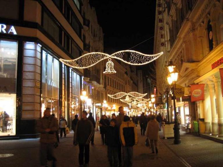 Váci street at Christmas
