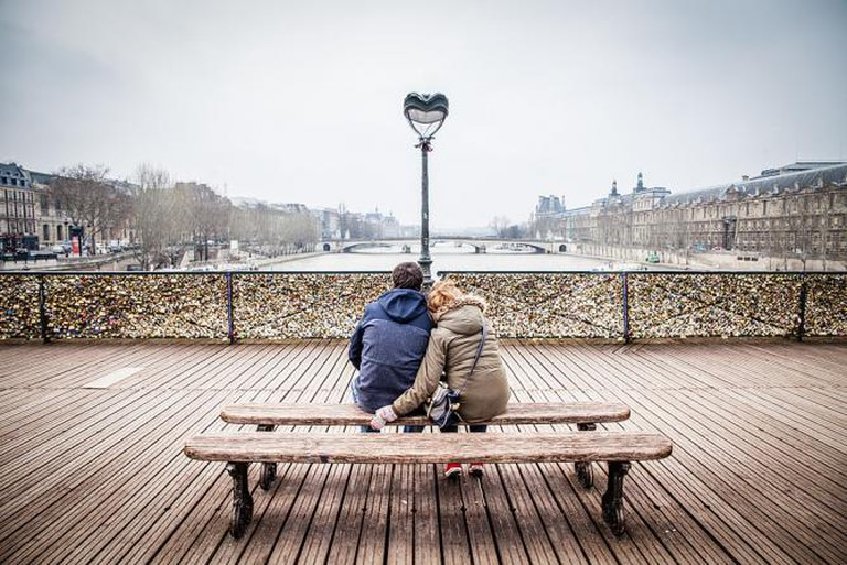 Love on the Pont Des Arts | ©Andrés Nieto Porras/WikiCommons