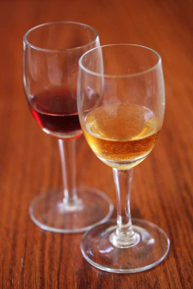 An international wine list is sevred at Sauce Pizza & Wine.